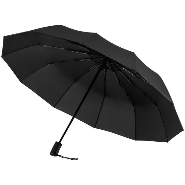 Зонт складной автомат Doppler Fiber Magic Major, черный - фото № 1