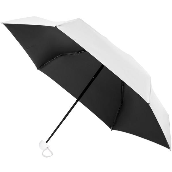 Зонт складной Cameo, механический, белый / черный - фото № 1
