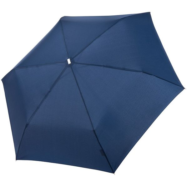 Зонт складной механический Doppler Fiber Alu Flach, темно-синий - фото № 1
