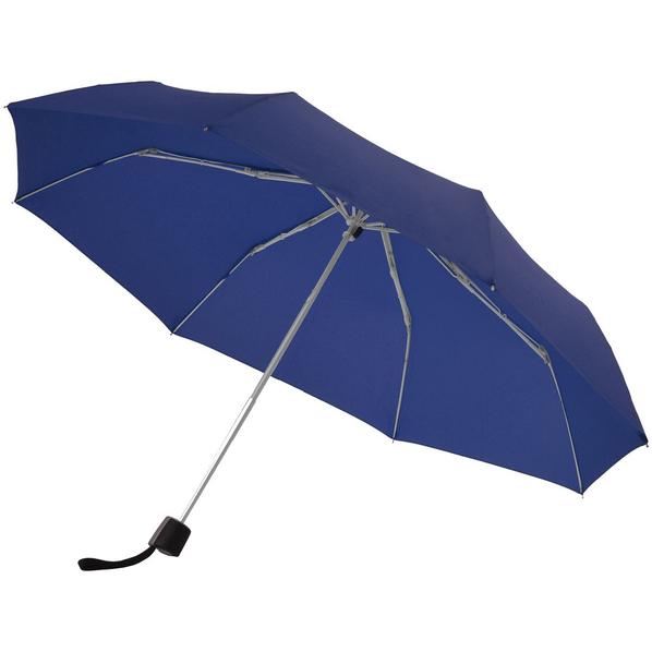 Зонт складной механический Doppler Fiber Alu Light, темно-синий - фото № 1