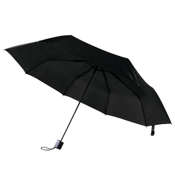 Зонт складной механический «Сиэтл», черный - фото № 1
