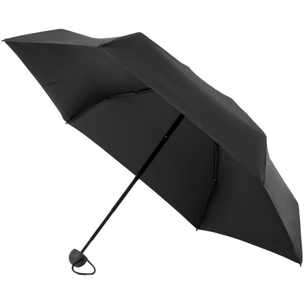 Зонт складной механический 5 сложений Molti Cameo, черный - фото № 1