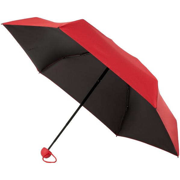 Зонт складной механический 5 сложений Molti Cameo, красный / черный - фото № 1
