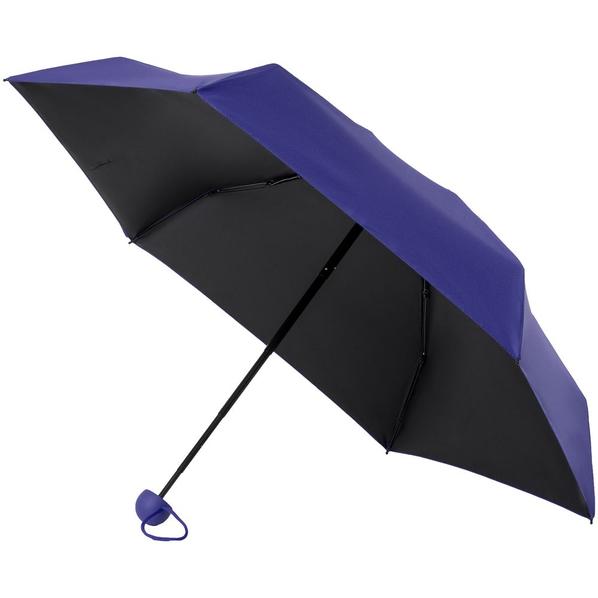 Зонт складной механический 5 сложений Molti Cameo, синий / черный - фото № 1