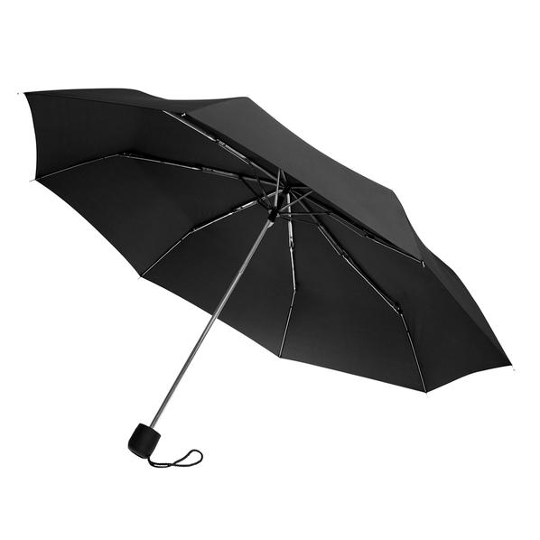 Зонт складной механический Lid, 3 сложения, черный - фото № 1