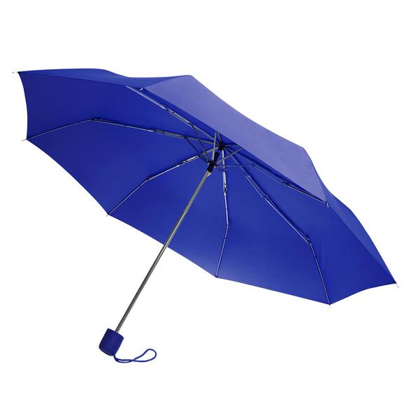 Зонт складной механический Lid, 3 сложения, синий - фото № 1