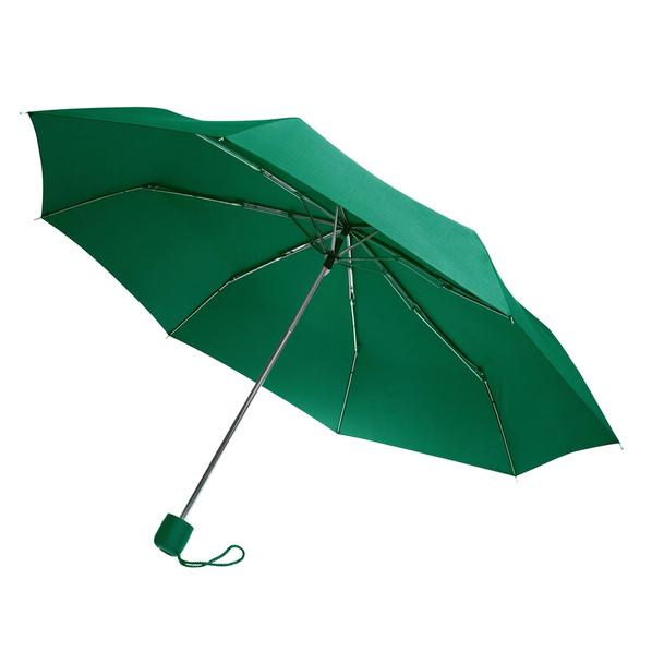 Зонт складной механический Lid, 3 сложения, зеленый - фото № 1