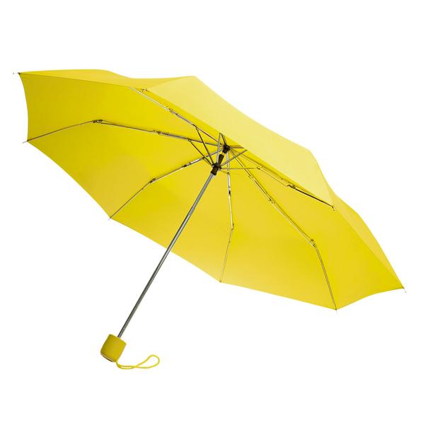 Зонт складной механический Lid, 3 сложения, желтый - фото № 1