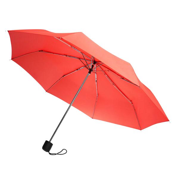 Зонт складной механический Lid New, 3 сложения, красный - фото № 1