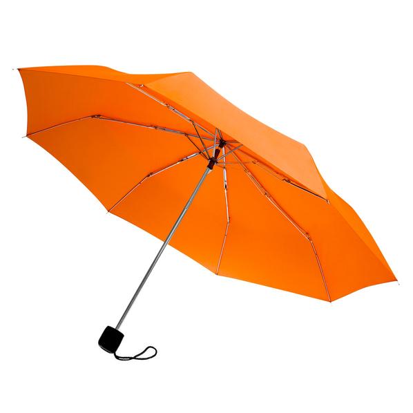 Зонт складной механический Lid New, 3 сложения, оранжевый - фото № 1