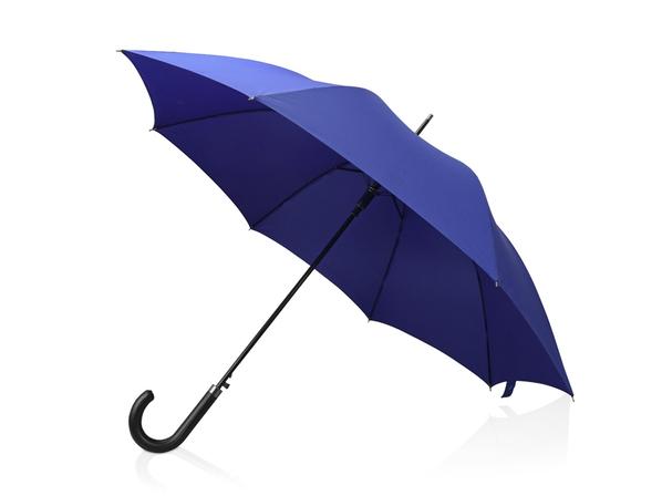 Зонт трость полуавтомат Алтуна, синий - фото № 1