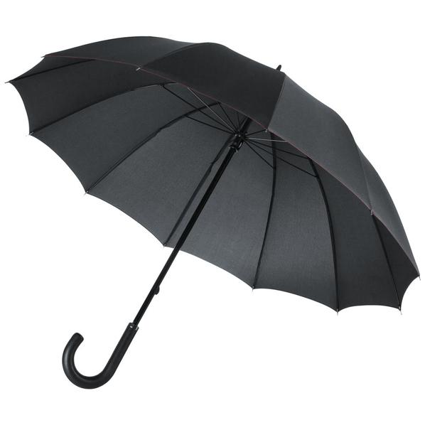 Зонт трость двухсторонний механический Matteo Tantini Lui, черный / красный