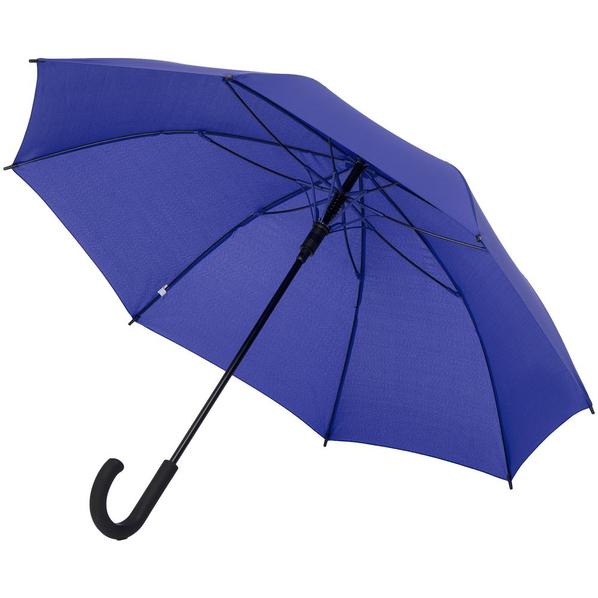 Зонт-трость полуавтомат с цветными спицами Molti Bespoke, синий