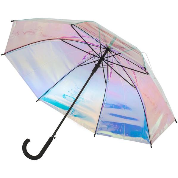 Зонт-трость полуавтомат женский Molti Glare Flare, перламутрово-розовый