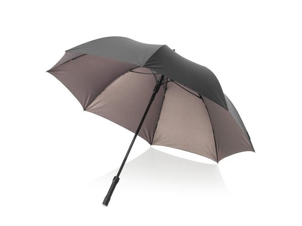 Зонт трость с фонариком механический Marksman Rosari, графит - фото № 1