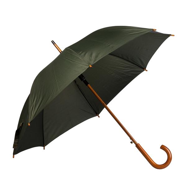 Зонт трость полуавтомат Денди, темно-зеленый - фото № 1