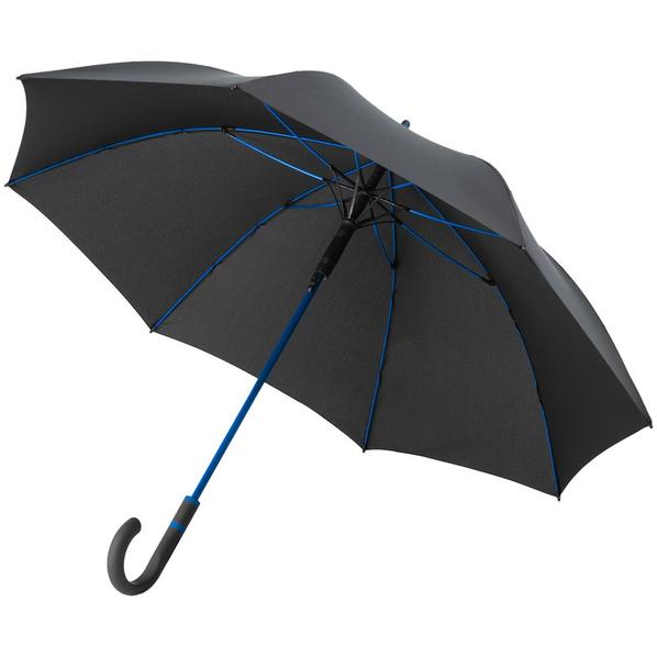 Зонт-трость с цветными спицами Fare Color Style ver.2, ярко-синий/ черный - фото № 1