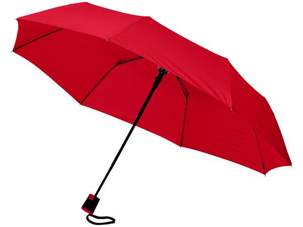 Зонт складной полуавтомат Wali, красный - фото № 1
