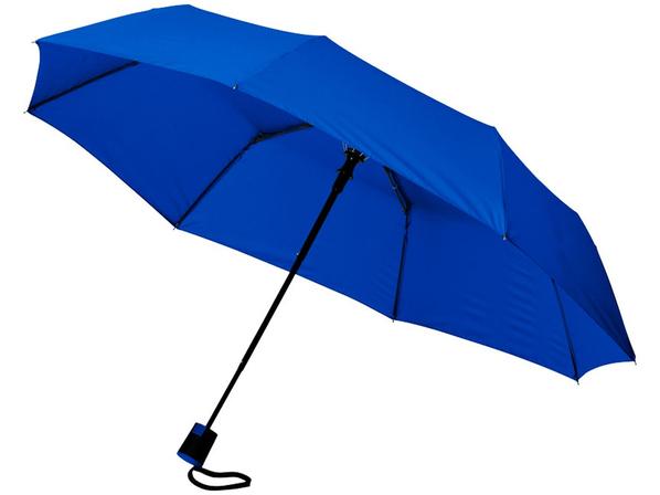 Зонт складной полуавтомат Wali, синий - фото № 1