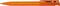 Ручка шариковая пластиковая Senator Super Hit Icy, прозрачная оранжевая фото