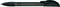 Ручка шариковая пластиковая Senator Hattrix Soft Clear, прозрачная черная фото