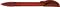 Ручка шариковая пластиковая Senator Hattrix Soft Clear, прозрачная красная фото
