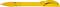 Ручка шариковая пластиковая Senator Hattrix Soft Clear, прозрачная желтая фото