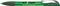 Ручка шариковая пластиковая Senator Hattrix Metal Clear, прозрачная зеленая фото