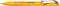 Ручка шариковая пластиковая Senator Hattrix Metal Clear, прозрачная желтая фото