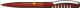 Ручка шариковая пластиковая Senator New Spring Clear Clip Metal, прозрачная темно-красная / серебристая - фото № 1