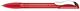 Ручка шариковая пластиковая Senator Hattrix Clear Soft grip Clip Metal, красная - фото № 1