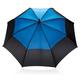 """Зонт трость антишторм двухцветный автомат XD Collection 27"""", черный / голубой - фото № 2"""