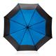 """Зонт трость антишторм двухцветный автомат XD Collection 27"""", черный / голубой - фото № 3"""