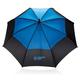 """Зонт трость антишторм двухцветный автомат XD Collection 27"""", черный / голубой - фото № 5"""