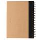 Блокнот на спирали с ручкой XD Collection Kraft, крафт / черный - фото № 4