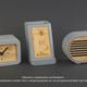 Часы с функцией беспроводной зарядки Stonehenge, серые / бежевые - фото № 6