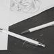 Карандаш механический CPen Ray, белый, покрытие soft touch - фото № 2