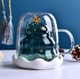 Кружка Christmas с двойными стенками, прозрачная - фото № 5