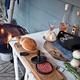 Набор для барбекю с прессом для гамбургеров и кисточкой, черный - фото № 6