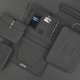 Обложка для паспорта и кредиток с RFID - защитой от считывания данных, черный - фото № 4
