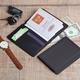 Обложка для паспорта и кредиток с RFID - защитой от считывания данных, черный - фото № 2
