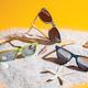 Очки солнцезащитные с бамбуковыми дужками унисекс XD Collection Wheat straw, зелёные / крафт - фото № 7