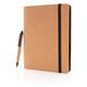 Органайзер с блокнотом и ручкой XD Collection Cork Deluxe, А5, коричневый - фото № 3