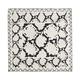 Платок шелковый Pitone Cream, черный/ бежевый - фото № 1