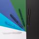 Ручка шариковая пластиковая XD Collection X9, матовая черная - фото № 5