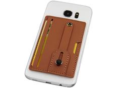 Бумажник для телефона с защитой RFID, коричневый фото
