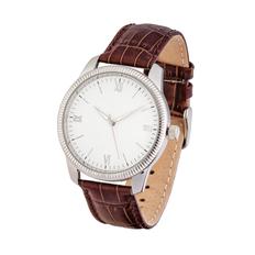 Часы наручные, серебристый/коричневый фото