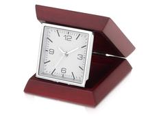 Часы настольные складные, серый, коричневый фото