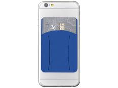 Картхолдер для телефона с отверстием для пальца, синий фото