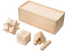Набор головоломок, коричневый фото